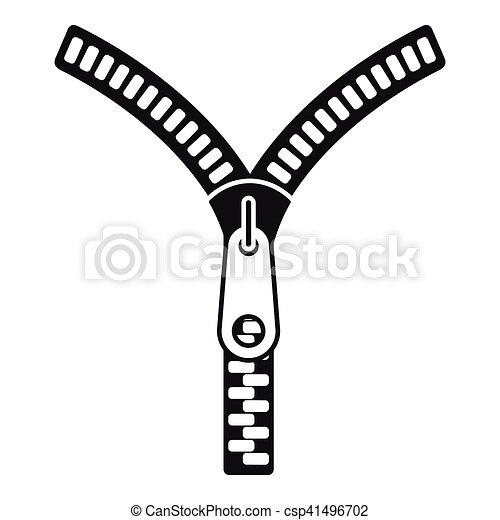 zipper with lock icon simple style zipper with lock icon rh canstockphoto com zipper vector download zipper vector illustrator
