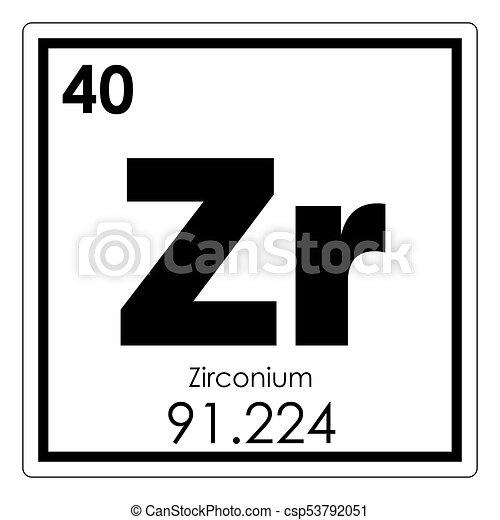 zirconium chemical element csp53792051 - Periodic Table Zr