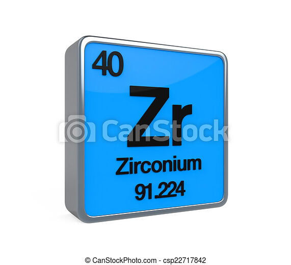 Zirconium element periodic table isolated on white drawing zirconium element periodic table csp22717842 urtaz Images