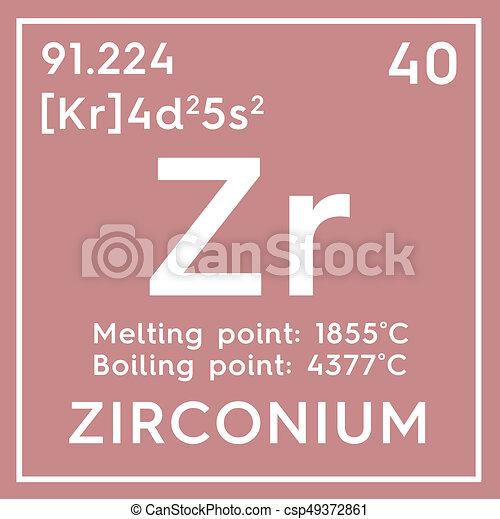 zirconium transition metals chemical element of mendeleevs periodic table csp49372861 - Periodic Table Zr