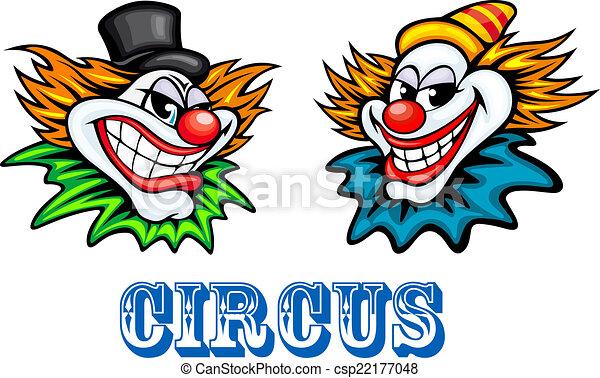 zirkus, clowns, bunte, charaktere