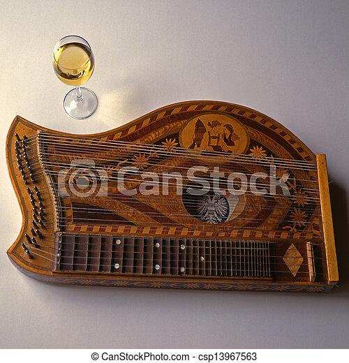 zither, musik - csp13967563