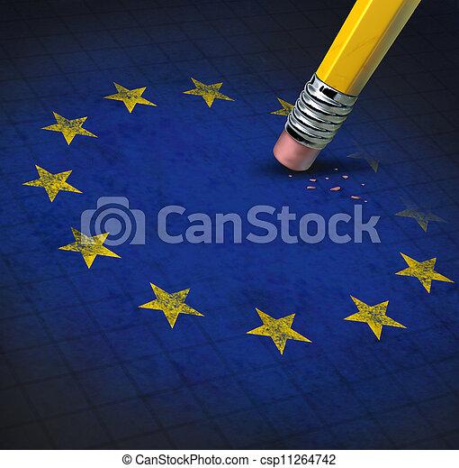 zjednoczenie, problemy, europejczyk - csp11264742