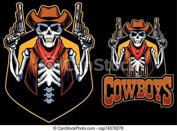 zmarły, maskotka, kowboje - csp74376278