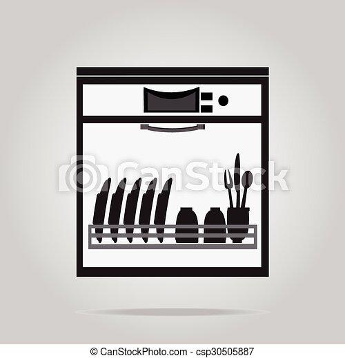 zmywarka do naczy symbol ilustracja ikona symbol plik wektorowy wyszukaj clip arty. Black Bedroom Furniture Sets. Home Design Ideas