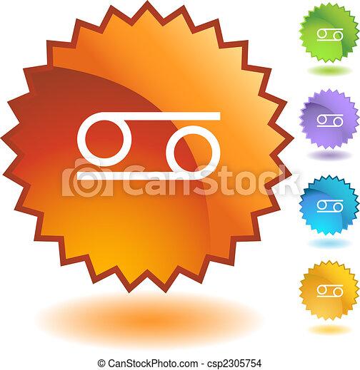 Una placa de Zodiaco - csp2305754