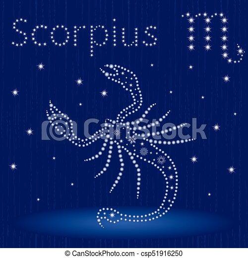 Escorpio con copos de nieve - csp51916250