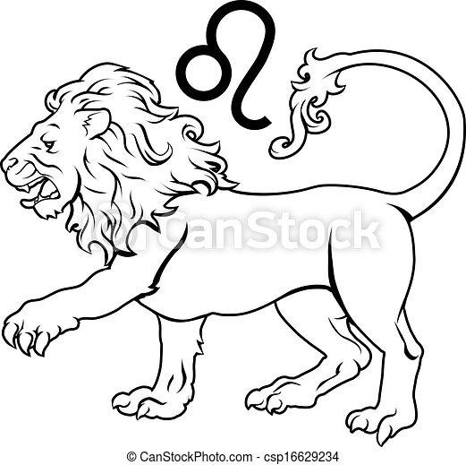 Leo horóscopo horóscopo de astrología - csp16629234