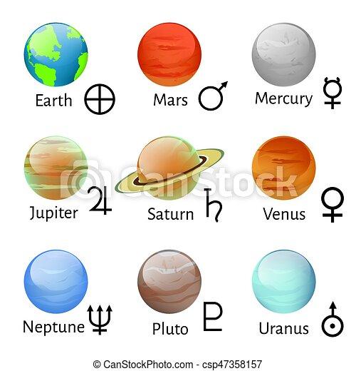 Zodiac and astrology symbols - csp47358157