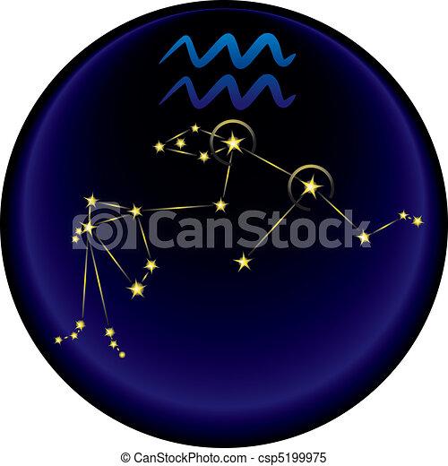 Zodiac Aquarius Sign - csp5199975