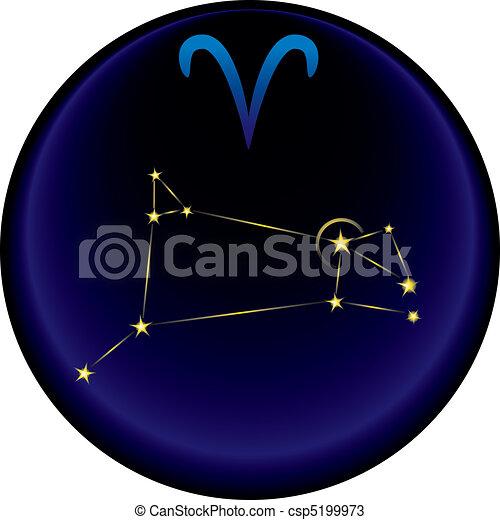 Zodiac Aries Sign - csp5199973