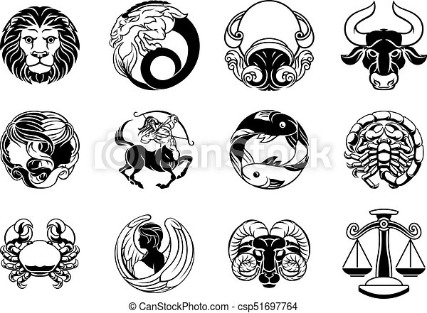 zodiac astrology horoscope star signs icon set zodiac clip art rh canstockphoto co uk zodiac clip art images zodiac clip art free images
