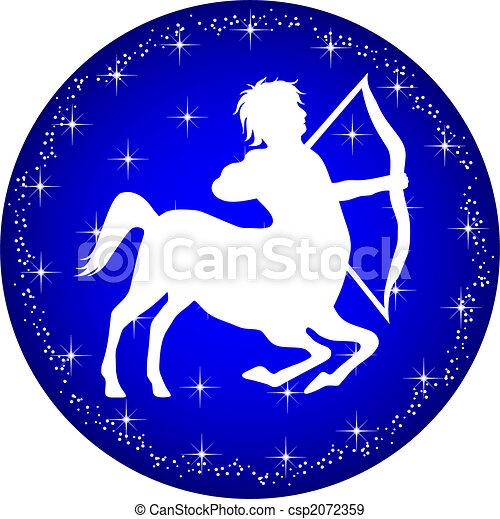 zodiac button sagittarius - csp2072359
