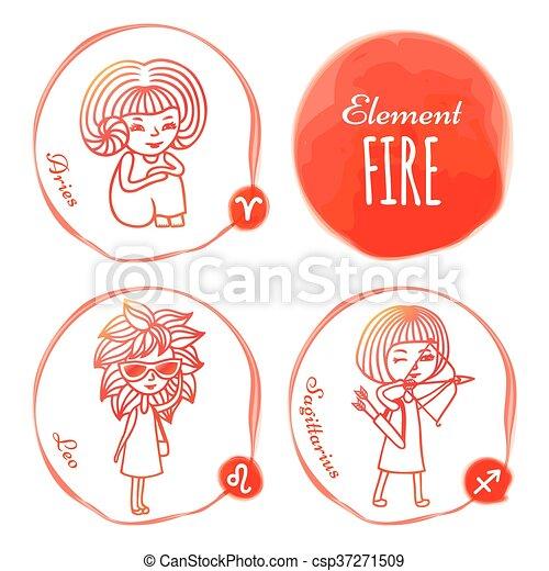 Zodiac element fire - csp37271509