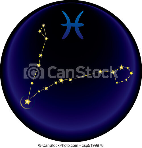 Zodiac Pisces Sign - csp5199978