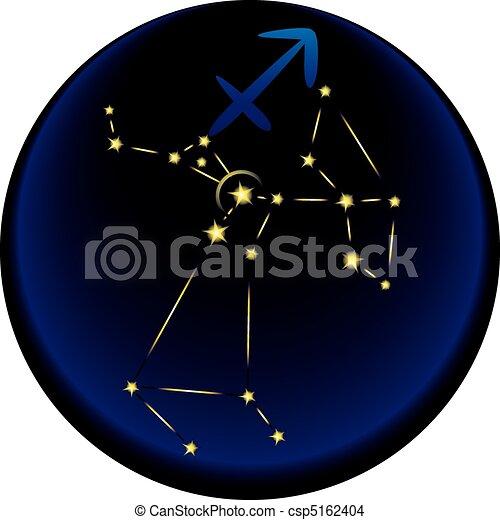 Zodiac Sagittarius Sign - csp5162404