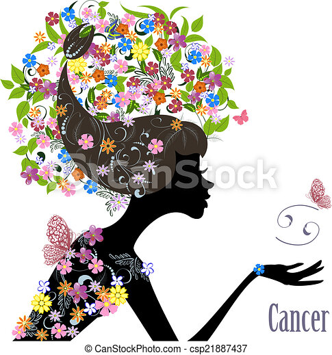 zodiac sign cancer fashion girl vectors search clip art illustration drawings and eps. Black Bedroom Furniture Sets. Home Design Ideas