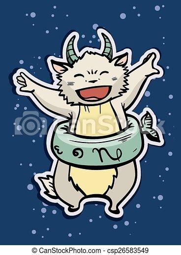 zodiac sign capricorn - csp26583549