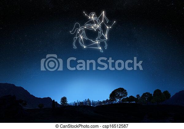 Zodiac Sign Sagittarius - csp16512587