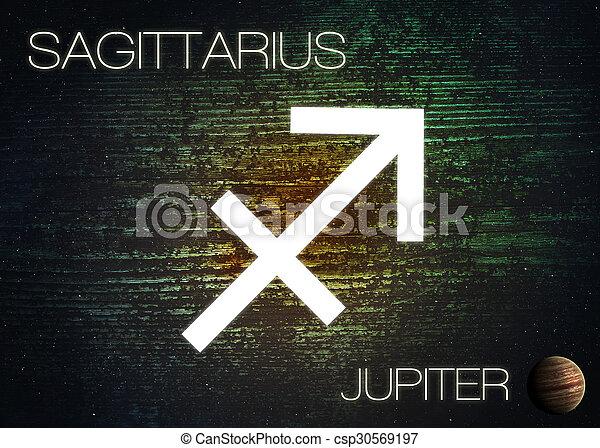 Zodiac sign - Sagittarius - csp30569197