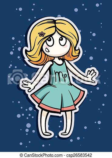 zodiac sign virgo - csp26583542
