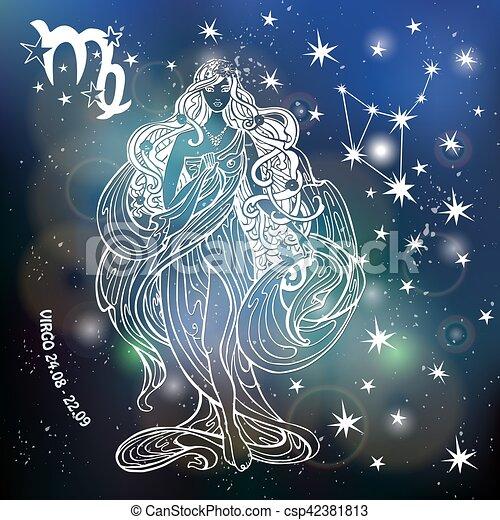 Zodiac sign Virgo Horoscope Blurred space