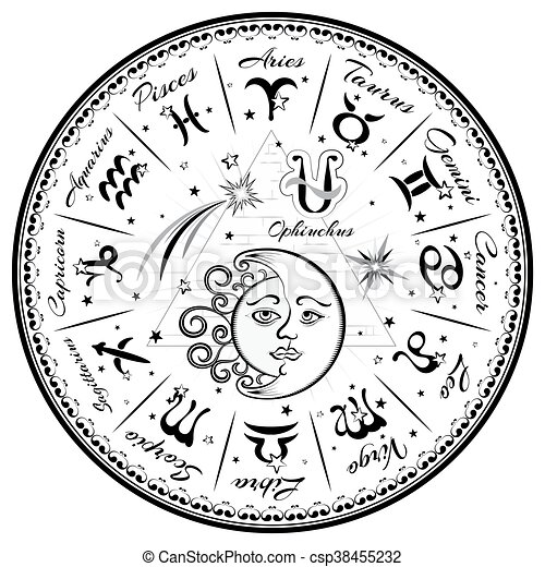 Zodiac signs, horoscope - csp38455232