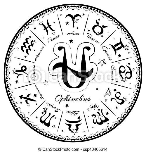 Zodiac signs, horoscope - csp40405614