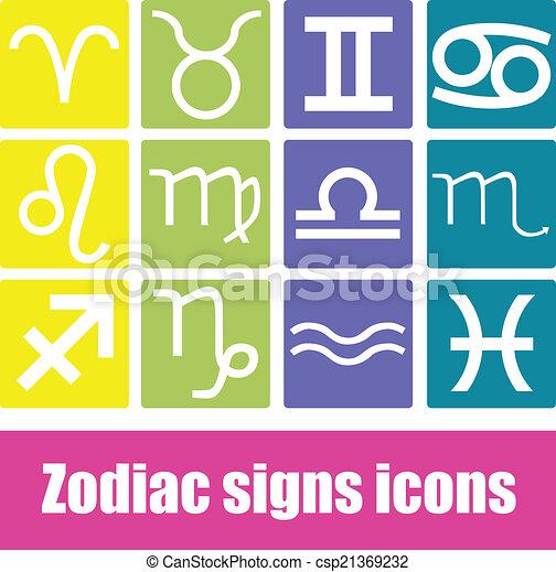 Zodiac signs icons - csp21369232