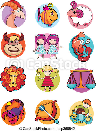 vector illustration of a zodiac set vector clip art search rh canstockphoto com zodiac clip art free zodiac clip art free