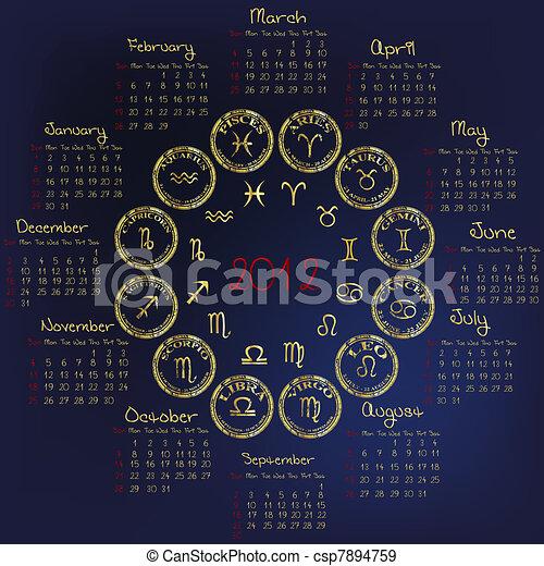 Calendario Zodiacal.Zodiacal 2012 Calendario Senales Horoscopo