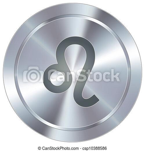 zodiaque, industriel, bouton, lion - csp10388586