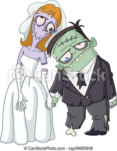 zombi, mariage - csp39685938