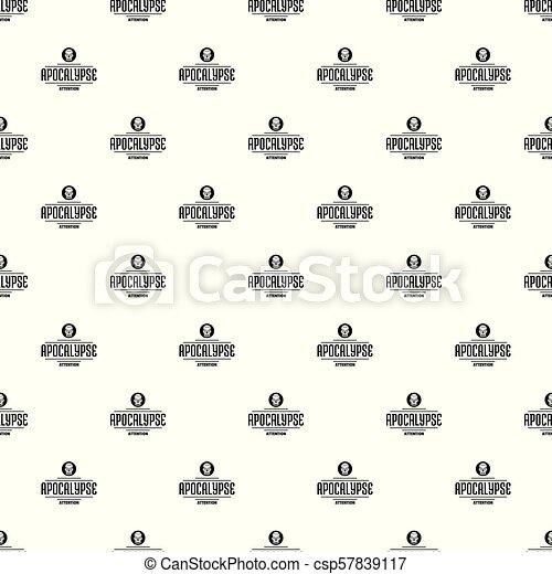Zombie apocalypse pattern vector seamless - csp57839117