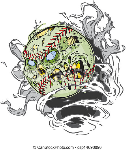 Zombie Baseball Ripping Out - csp14698896