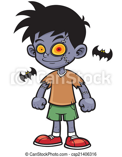 vector illustration of cartoon zombie boy vector clip art search rh canstockphoto com zombie clipart black and white zombie clip art free images