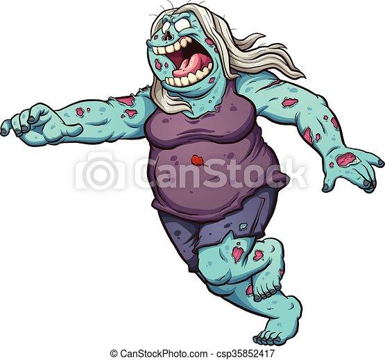 zombie, cartone animato - csp35852417