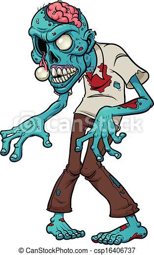 zombie, cartone animato - csp16406737