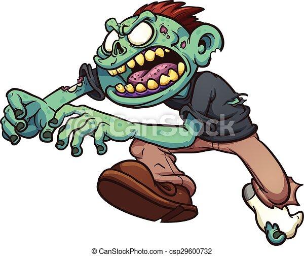 zombie, cartone animato - csp29600732