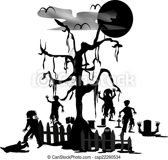 zombie cemitério vivendo morto