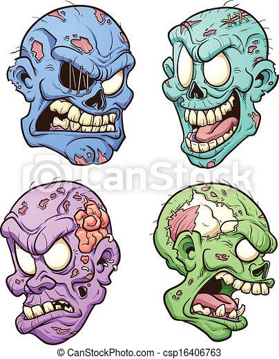 Zombie heads - csp16406763