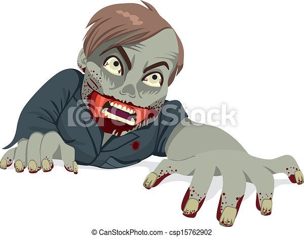 Zombie Man Crawling - csp15762902