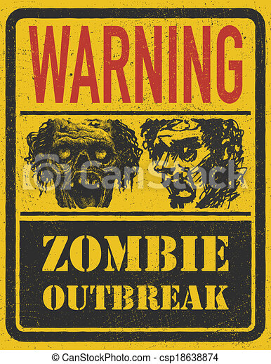 Zombie Outbreak. Hand drawn. Vector Eps8 - csp18638874