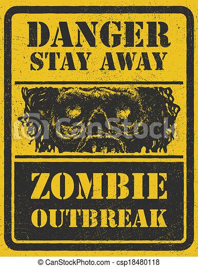 Zombie Outbreak. Hand drawn. Vector Eps8 - csp18480118
