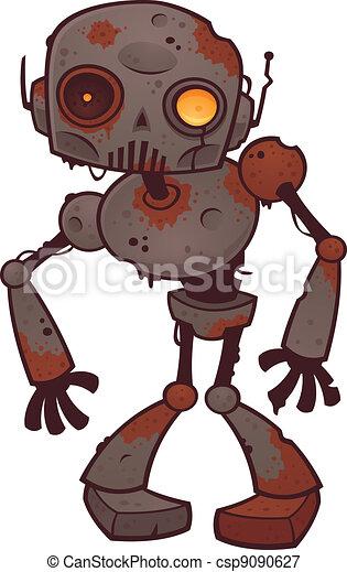 zombie, roestige , robot - csp9090627