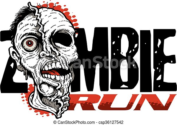 zombie run - csp36127542
