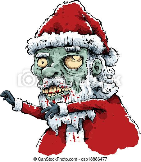 Christmas Zombie Santa.Zombie Santa