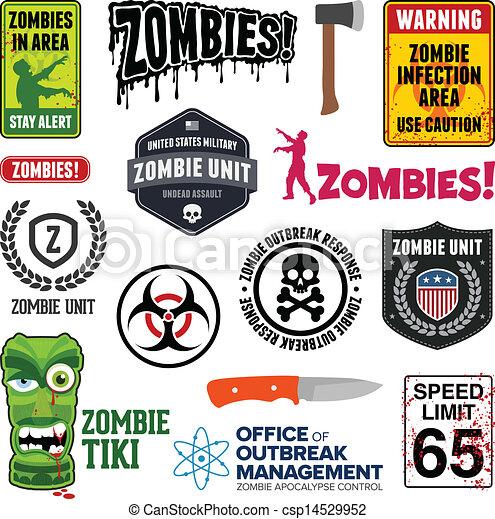 zombie, sinais - csp14529952