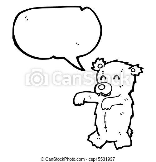 Zombie Teddy Bear Cartoon
