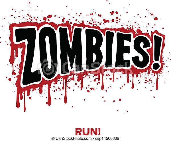 zombie, text - csp14506809